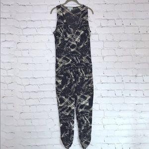 Veronica M Retro Polyester Jumpsuit Sleeveless